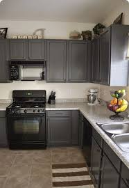 kitchens with grey painted cabinets painting kitchen cabinets before and after