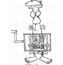 Free printable xray coloring pages x xray coloring #2763634. Vector Of A Cartoon Man Standing Behind An Xray Machine Coloring Page Outline By Toonaday 13444