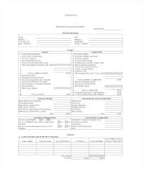 Personal Financial Statement Form 7 Free Word Documents