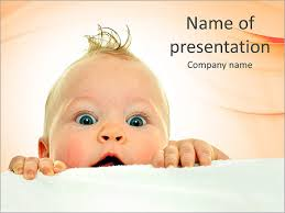 Curious Baby Powerpoint Template Backgrounds Google Slides Id