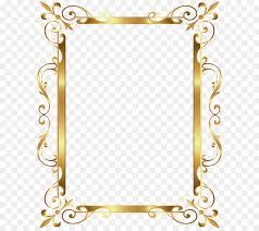 gold frame border png. Gold Frame Clip Art - Border Deco Transparent Image Png