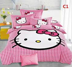 cute 3d bedding set hello kitty bedding hot new cotton children bed scheme of toddler boy