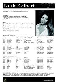 Actor Resume Actors Resume Template Keyresume Free Actor Resume Template Best 31
