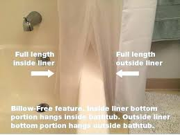 short shower curtain liner lengths cling proof sizes