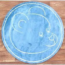 navy circle rug