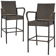 outdoor bar stools cheap. Best Choice Products Set Of 2 Outdoor Brown Wicker Barstool Patio Furniture Bar Stool Stools Cheap