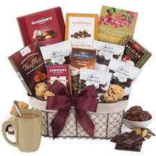 coffee chocolates gift basket clic