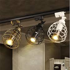black rustic led track light cob 10w ceiling rail lights spotlight for kitchen fixed clothing shoes