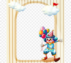 borders and frames birthday picture frame party clip art playground clown png 731 800 free transpa borders and frames png