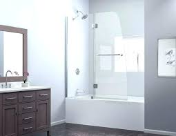 half shower door dream line enclosure showers aqua tub frosted glass bathtub intended for rollers ireland