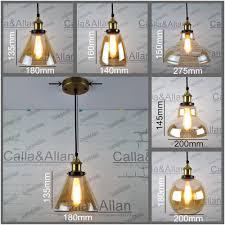 Us 47 01 Matt Gold Brass Pendant Light Fixture Edison Amber Glass Shades Hanging Lamp Retro Industrial Pendant Lamp Loft Ac110v 220v E27 In Pendant