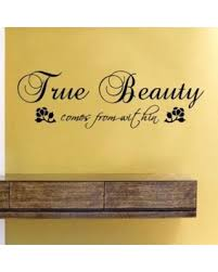 true beauty comes from within vinyl wall decals quotes sayings words art decor lettering vinyl wall on wall art lettering quotes with bargains on true beauty comes from within vinyl wall decals quotes