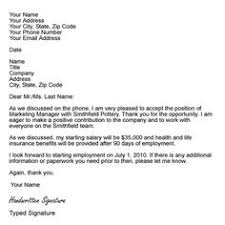 sample professional letter formats   letterssample letter formats  job offer acceptance letter example