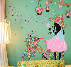 personality fairies girl erfly flowers art decal wall