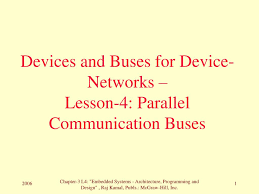 Embedded Systems Architecture Programming And Design Rajkamal Ppt Ppt Devices And Buses For Device Networks Lesson 4