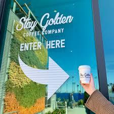 Проект группы компаний golden project. Stay Golden Coffee Company Coffee Shop In Oceanside