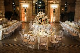 Rectangle Tables Wedding Reception