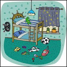 cartoon bunk bed. Download Toddler Boy Room Interior In Cartoon Style Stock Vector - Illustration Of Carpet, Bedroom Bunk Bed D