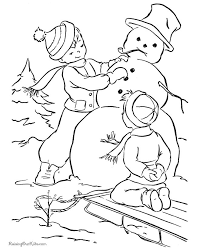 Small Picture Snowman Coloring Pages Printable Best Winter Coloring Pages