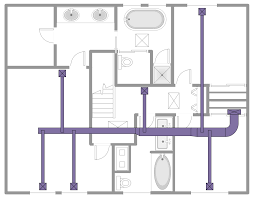 hvac plans solution conceptdraw com schematic diagram of hvac system at Free Hvac Diagrams