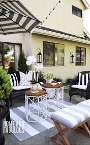 Black And White Patio Design Ideas Black White And Grey Outdoor Space Outdoorideaspatio In