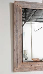 wood wall mirrors. Rustic Transitional Large Maple Wood Wall Mirror, (60 Sq.) For Sale Mirrors R