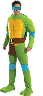 ninja turtles costumes for men. Perfect Men Rubieu0027s Menu0027s Teenage Mutant Ninja Turtles Deluxe Adult Muscle Chest  Leonardo Green XLarge Intended Costumes For Men
