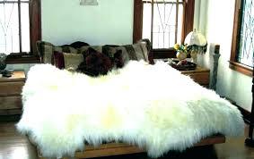black fur area rug faux sheepskin pink throw rugs ivory floor furry s