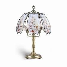 hummingbird brushed gold touch lamp