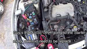 2004 Chevy Impala Engine Won`t Start 60 amp open fuse - YouTube
