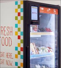Refrigerated Vending Machine Extraordinary PantryLabs' Vending Machine Dispenses Fresh Foods Via RFID 4848