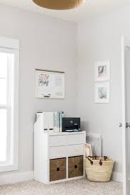 White airy home office Desk Light And Airy Midcentury Modern Home Office Office Tour Girly Blush And Linenwood Home Light Airy Midcentury Modern Home Office Tour Laurenda Marie