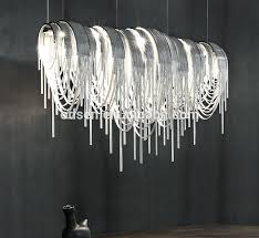 modern hotel silver metal chain chandelier chain chandelier for new household chandelier manufacturers usa prepare