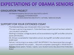 graduation project all obama academy seniors are required to  graduation project all obama academy seniors are required to submit a passing extended