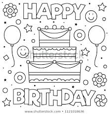 Coloring Pages For Kids Happy Birthday Colouring Printable Free