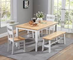 Small Picture Chiltern 150cm Oak and White Dining Table Set with Chairs and