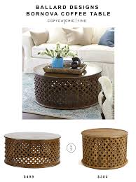 ballard designs bornova coffee table 499 vs cost plus world market tribal carved coffee table 300
