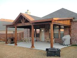 patio cover plans designs. Wood Style Open Gable Patio Cover Plans Designs .