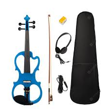 Electric Violin <b>Full Size 4/4</b> Electric Violin Fiddle <b>Solid</b> Wood ...