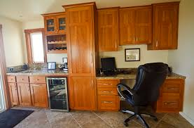office wet bar. Thumb Misc Craftsman Style Cherry Light Color Recessed Panel Wet Bar Desk Area Office Scallop Wine E