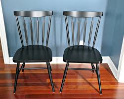 dining room decor with pieces willa raven side chairs polished black windsor wooden