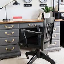 Finished office makeover Diy Antique Desk Makeover Kenarry Antique Desk Makeover Modern And Sophisticated