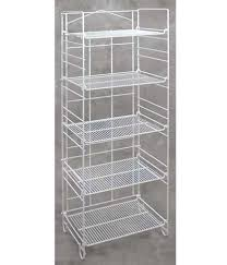 5 shelf adjule white wire rack 18 875 l x