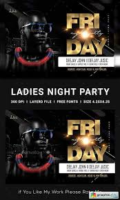 Club Flyers Address Ladies Night Club Flyer 23139253 Free Download Vector