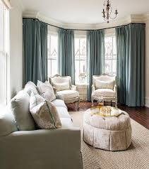 blue and grey living room design