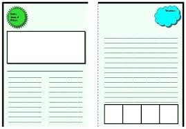 Kids Newspaper Templates Free Sample Example Printable Blank Article