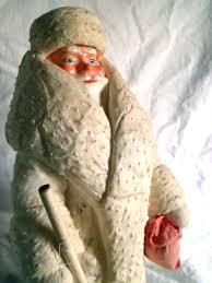 Alter Christbaumschmuck Weihnachtsmann Nikolaus Watte 47cm