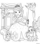 Фото принцессы диснея раскраски