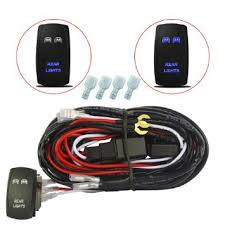 cheap dpdt rocker switch wiring dpdt rocker switch wiring get quotations · mictuning 12ft led light bar wiring harness 40a relay laser blue on off rocker