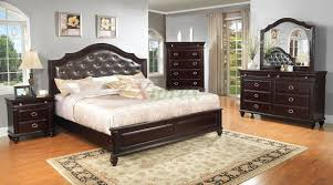 bedroom chairs platform furniture set with leather headboard tdc0000146 sets azure black faux cream